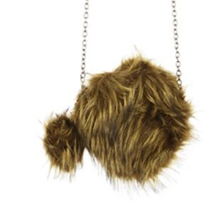 Handbags - FAUX FUR ROUND CROSSBODY  BAG ACCESSORY